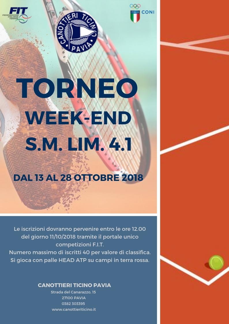 13/10/2018<BR>TORNEO WEEK END LIM.4.1 – S.M.
