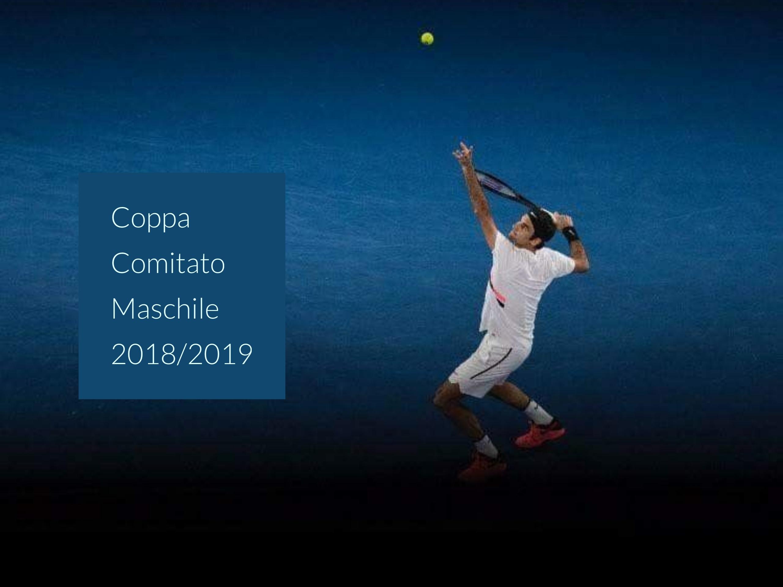 16/12 – ore 10,00<br>COPPA DI COMITATO MASCHILE