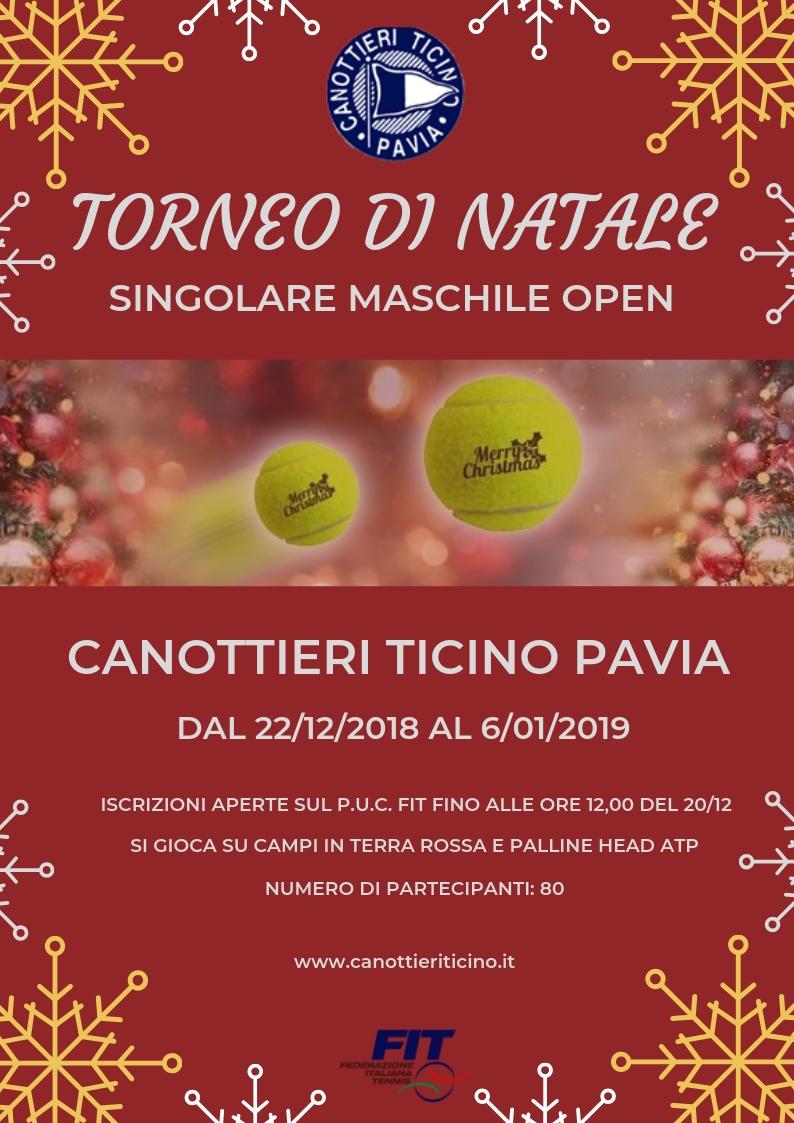22/12/2018 – 06/01/2019<BR>TORNEO DI NATALE – SING.MASCH. OPEN