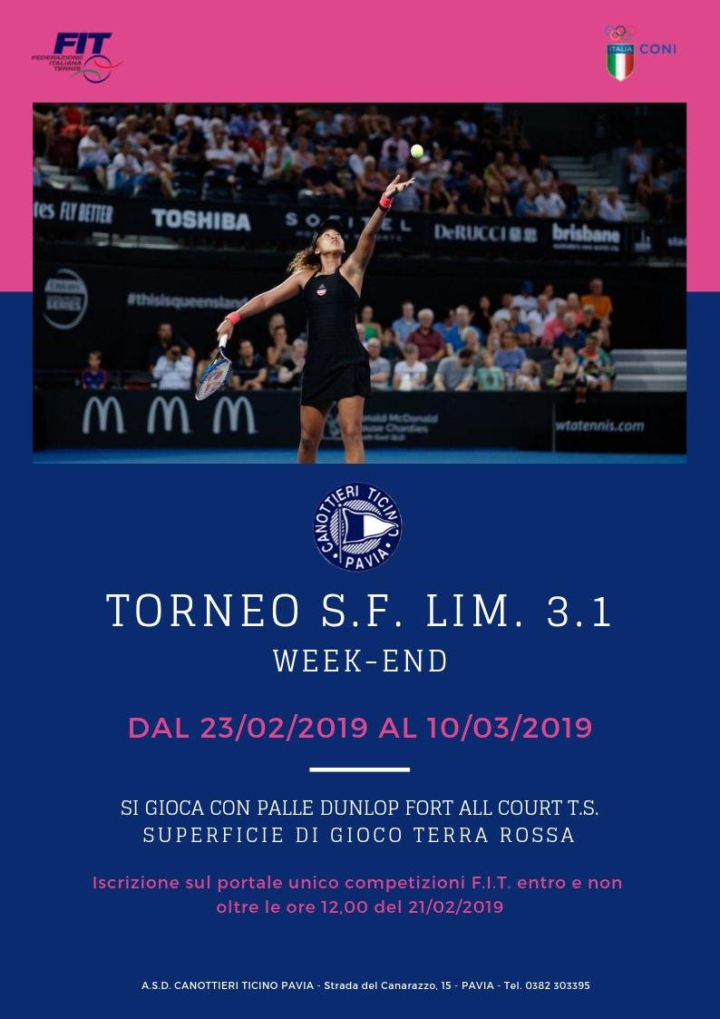 23-02-2019 – 10/03/2019 TORNEO WEEK END S.F. LIM. 3.1