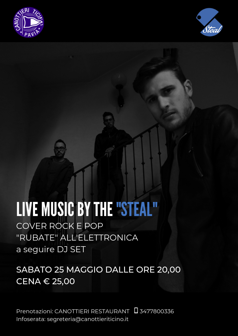 "25-05-2019 LIVE MUSIC BY THE ""STEAL"""