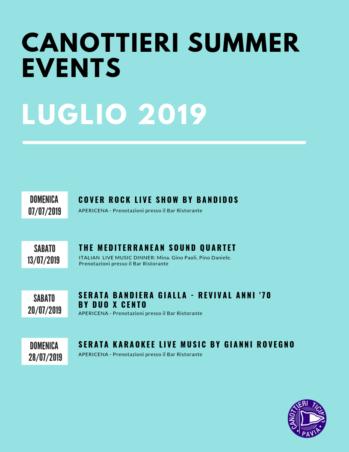 SUMMER EVENTS – LUGLIO