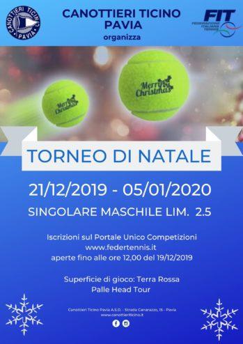 21-12-2019 / 05-01-2020 – TORNEO DI NATALE SING. MASCHILE LIM. 2.5