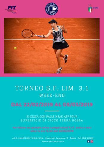 Torneo Singolare Femminile LIM. 3.1