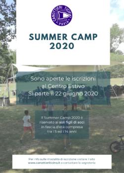 CENTRO ESTIVO – SUMMER CAMP 2020